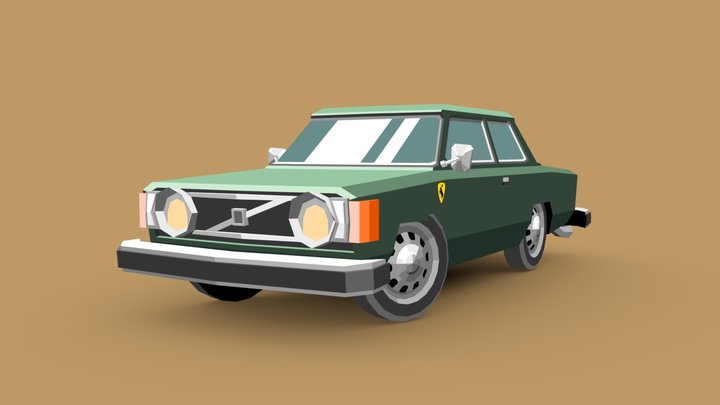 Volvo 142 3D Model