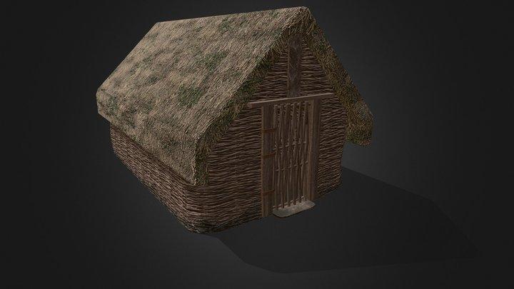 Viking Hut Type 3 - Linn Duachaill 3D Model