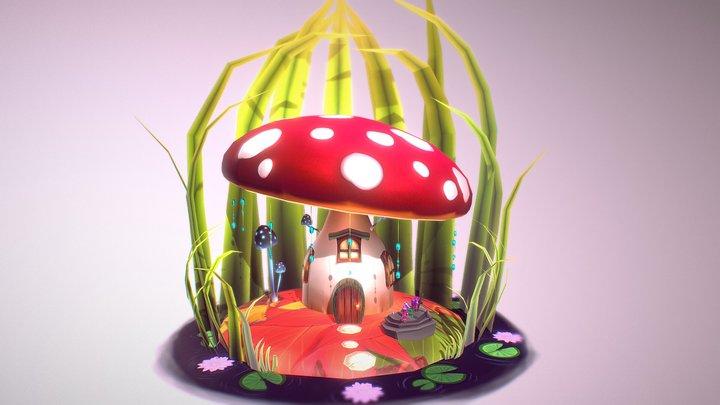 Mushroom House - Mukaddes Yilmaz 3D Model