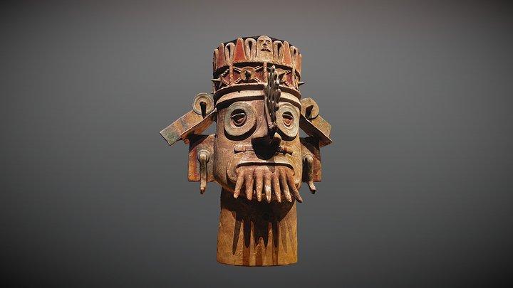 God of Water: Tlaloc 3D Model