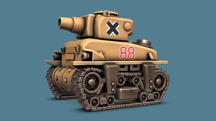 Metal Slug - Rebel Tank 3D Model