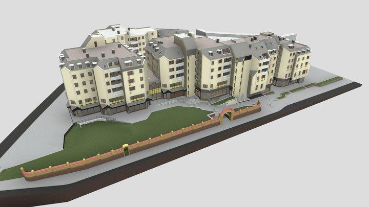 1421 - Residential building 3D Model