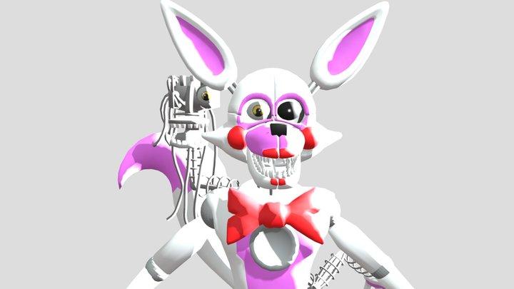 Stylized Mangle/Funtime Foxy 2.0 3D Model