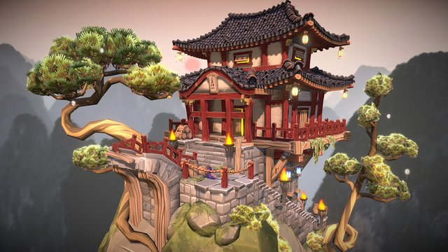 Chinese Old Place 3D Model
