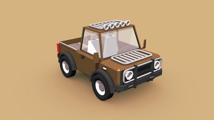 Low Poly Pickup 3D Model