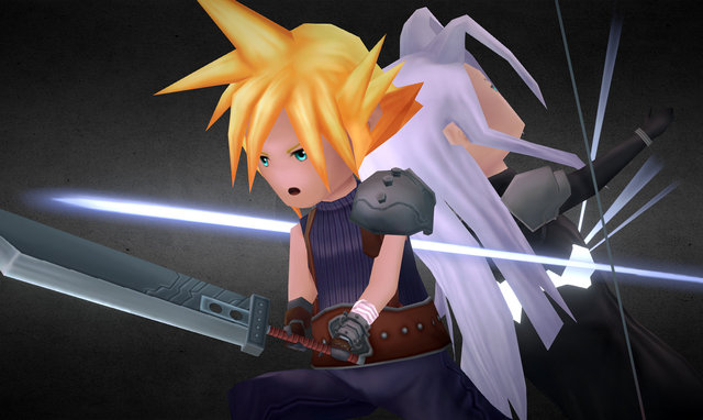 Final Fantasy VII, Cloud vs Sephiroth Omnislash! 3D Model