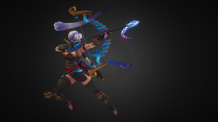 Ashe Polycount Riot Art Contest 2014 3D Model