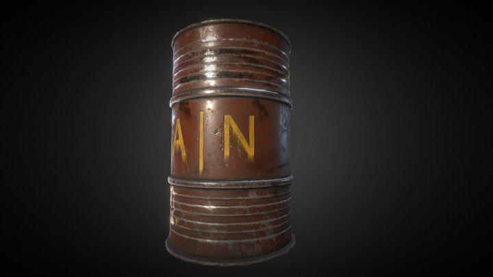 [PBR] Low Poly Barrel 3D Model