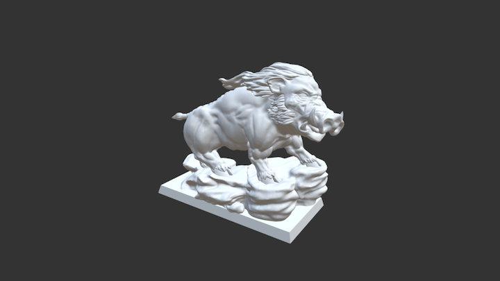 Rashnar, the King of the Hogs 3D Model