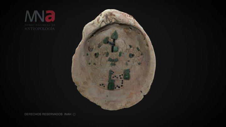 Pectoral grabado de Dzibanché, Quintana Roo 3D Model