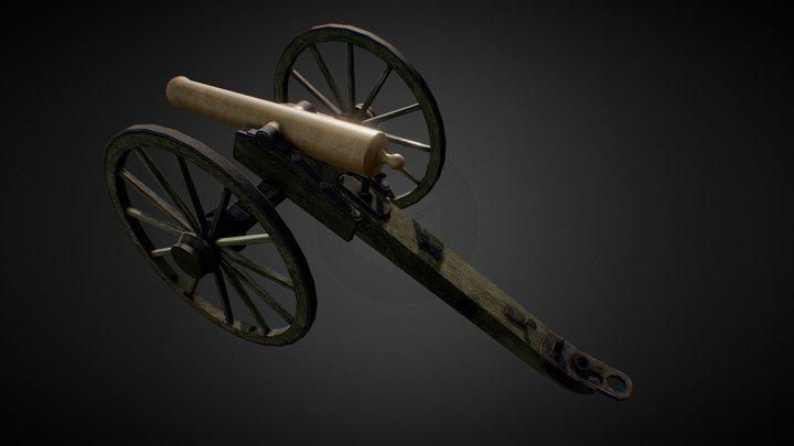 Napoleon Gun - US Civil War 3D Model