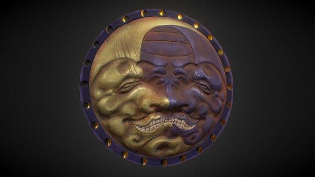Twin Moon Shield (PBR) 3D Model
