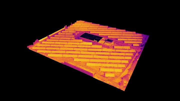 Solar farm drone inspection 3D Model