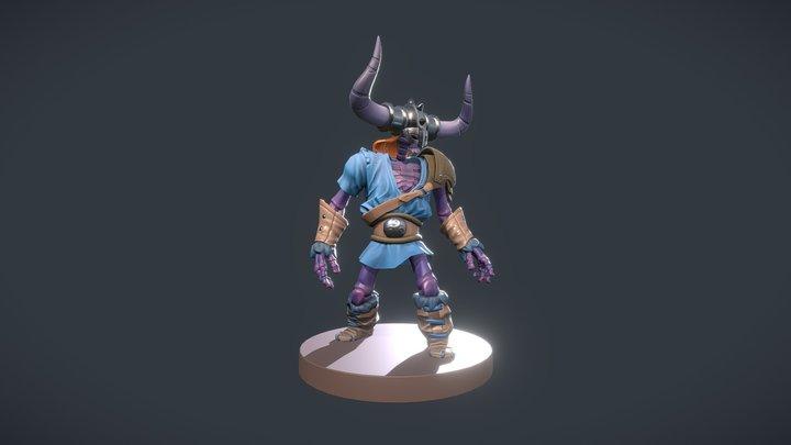 DeadSkeletonViking 3D Model
