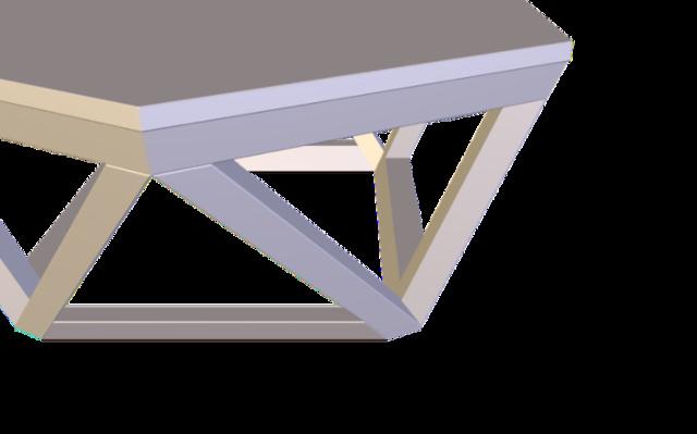 Irregular Lofted Table 3D Model