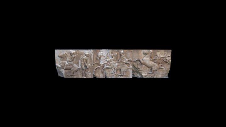 Parthenon West Frieze blocks 6-8 3D Model