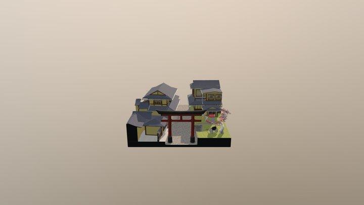1DAE02 - Cityscene Kyoto 3D Model