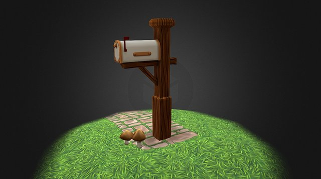 WIP — Post Office – White Mail Box 3D Model