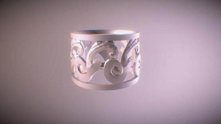 Floral Ring 3D Model