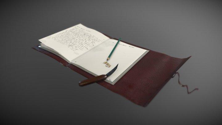 A writer's journal 3D Model