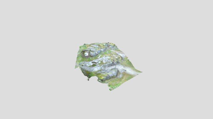 Granite outcrop Bustarviejo (Madrid) 3D Model