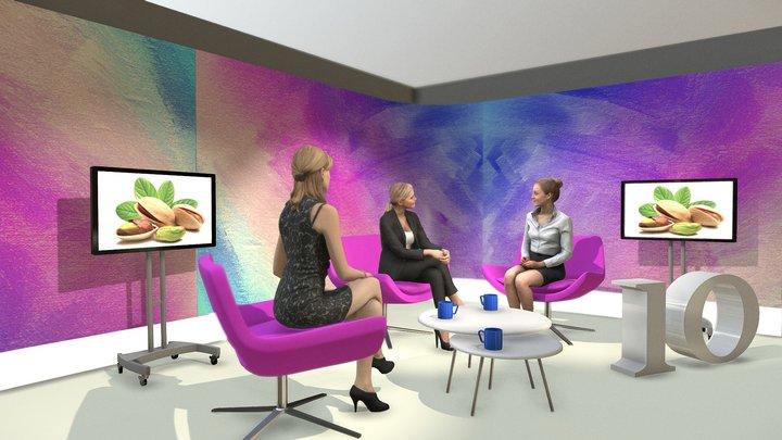 Graphis Advertising - Studio TV 3D Model
