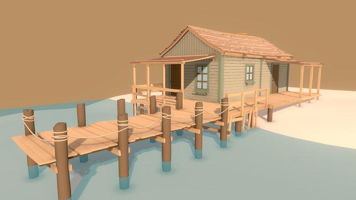 Fisherman's Shack | Detailed Draft 3D Model