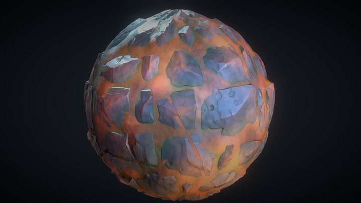 Stylized land material 3D Model