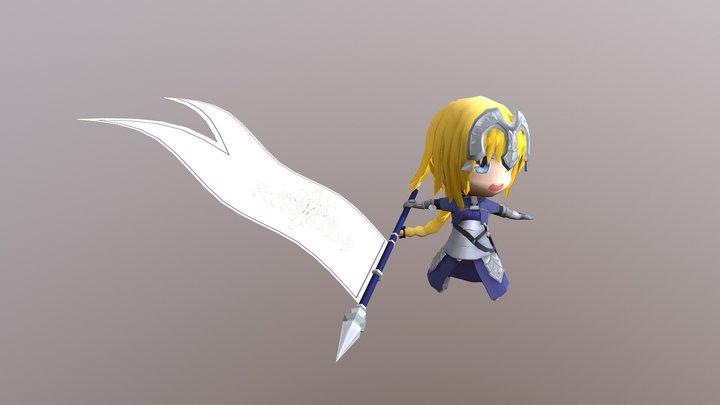 Jeanne Pose 1 3D Model