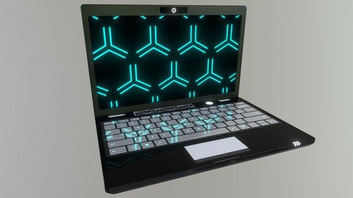 Low Poly Laptop 3D Model
