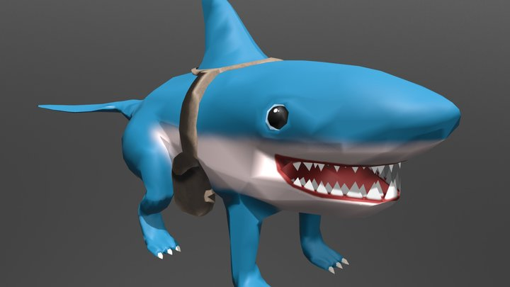 Shark Dog Smoosh 3D Model