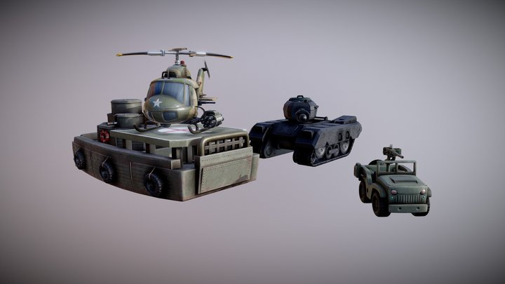 Military Vehicles Pack 3D Model