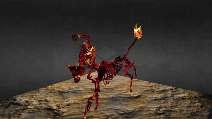 Headless Mule - Brazil Folklore - Game Character 3D Model