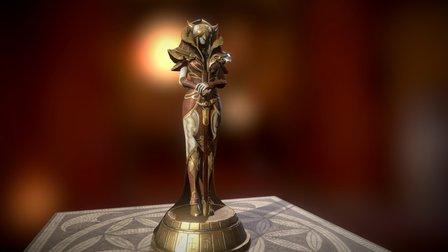 Archage Amarendra Statue 3D Model