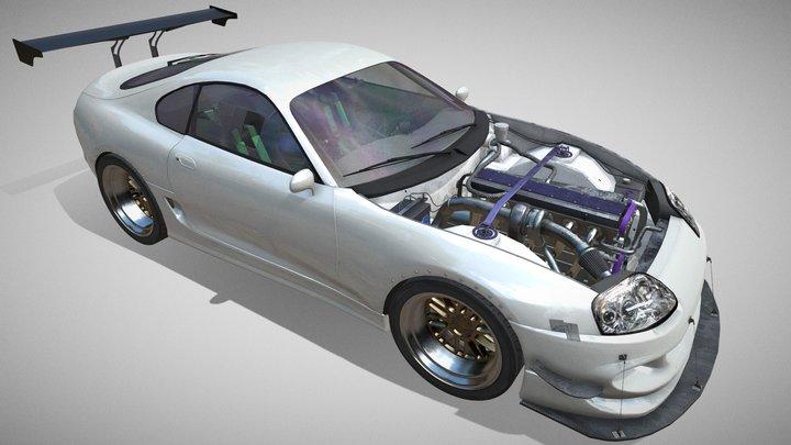 JDM style Drift Car 3D Model