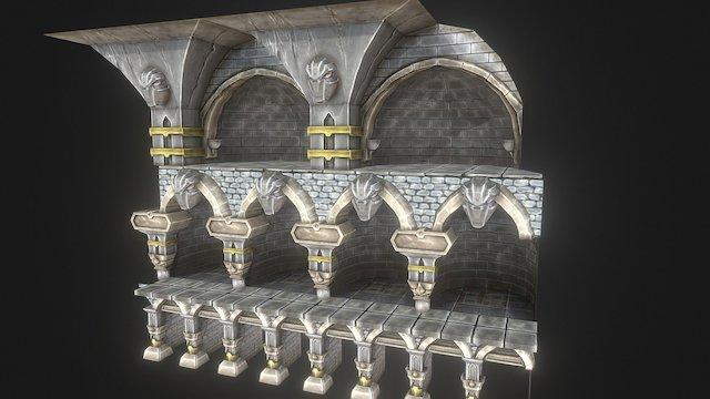 Stone Modular Arches 3D Model