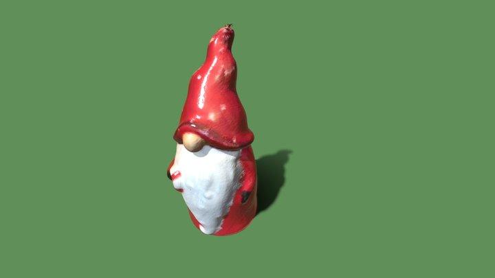 Santa Gnome Cookie Jar 3D Model