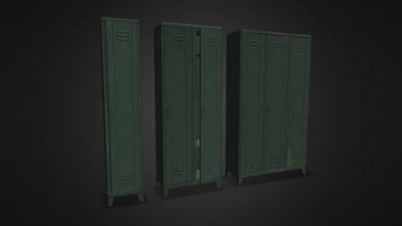 Industrial Locker Pack 3D Model