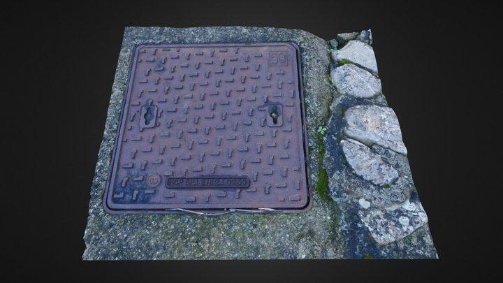 Simple manhole 3DST37 3D Model