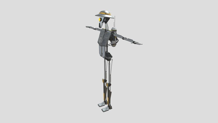 Combot Texture Showcase 3D Model