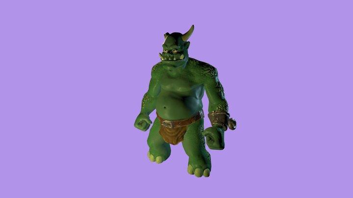 Ogre Character 3D Model