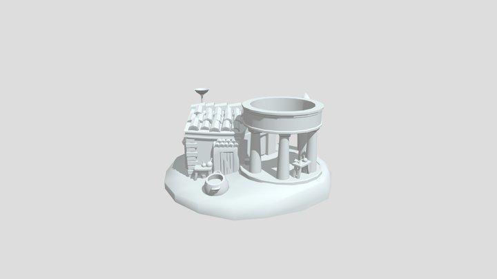 Greek potion/poison seller 3D Model