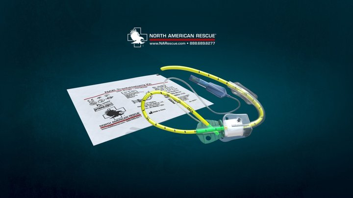 NAR Tracheostomy Kit with Bougie-Introducer 3D Model