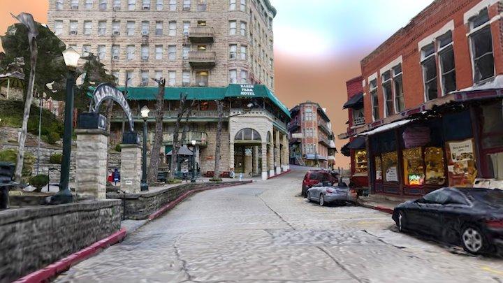Upper & Lower Basin Park & Center Street 3D Model