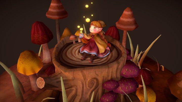 The mushroom stump 3D Model