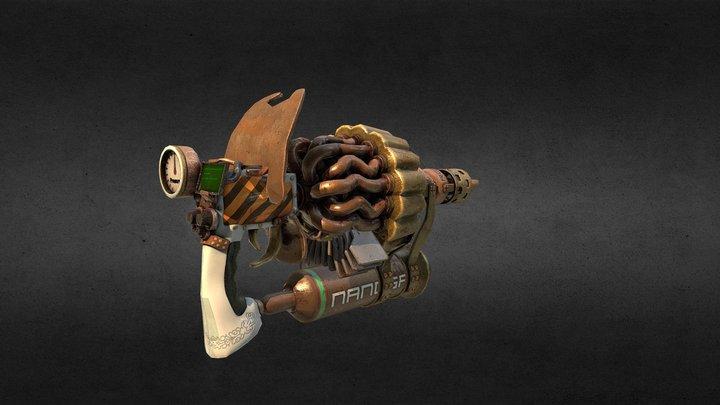 Steam Gun / unused model from Dead Cyborg game 3D Model