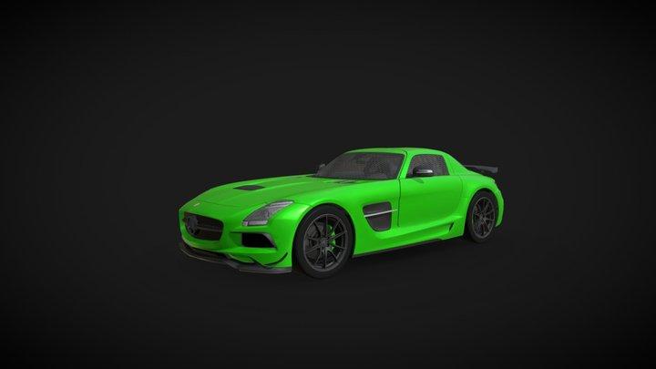 2014  Mercedes- Benz SLS AMG Black Series 3D Model