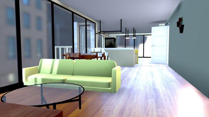 Modern Apartment 3D Model