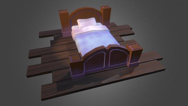 Stylized bed 3D Model