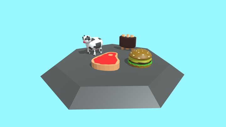 Cow Related Props 3D Model